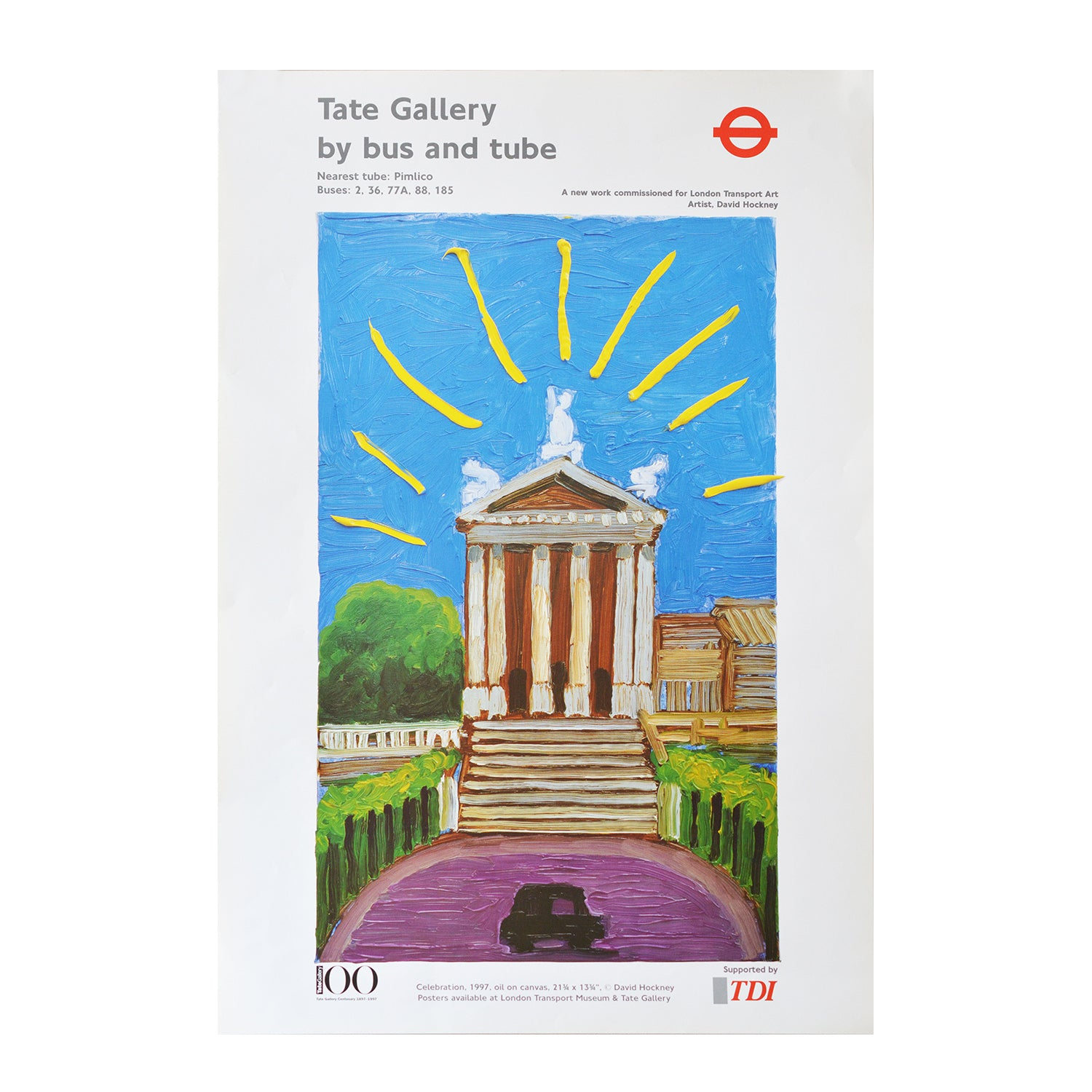 Original David Hockney London Transport poster