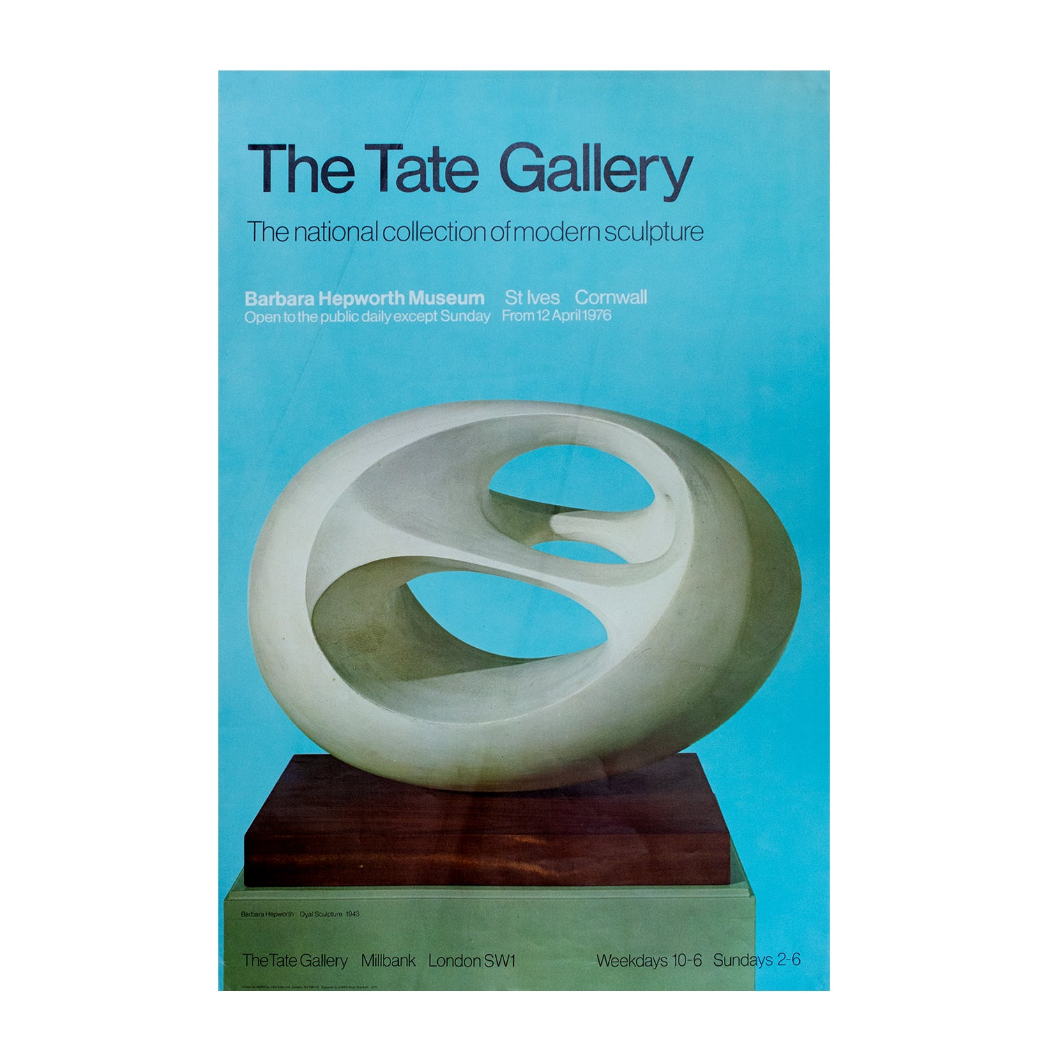 The Tate Gallery. The national collections of modern sculpture