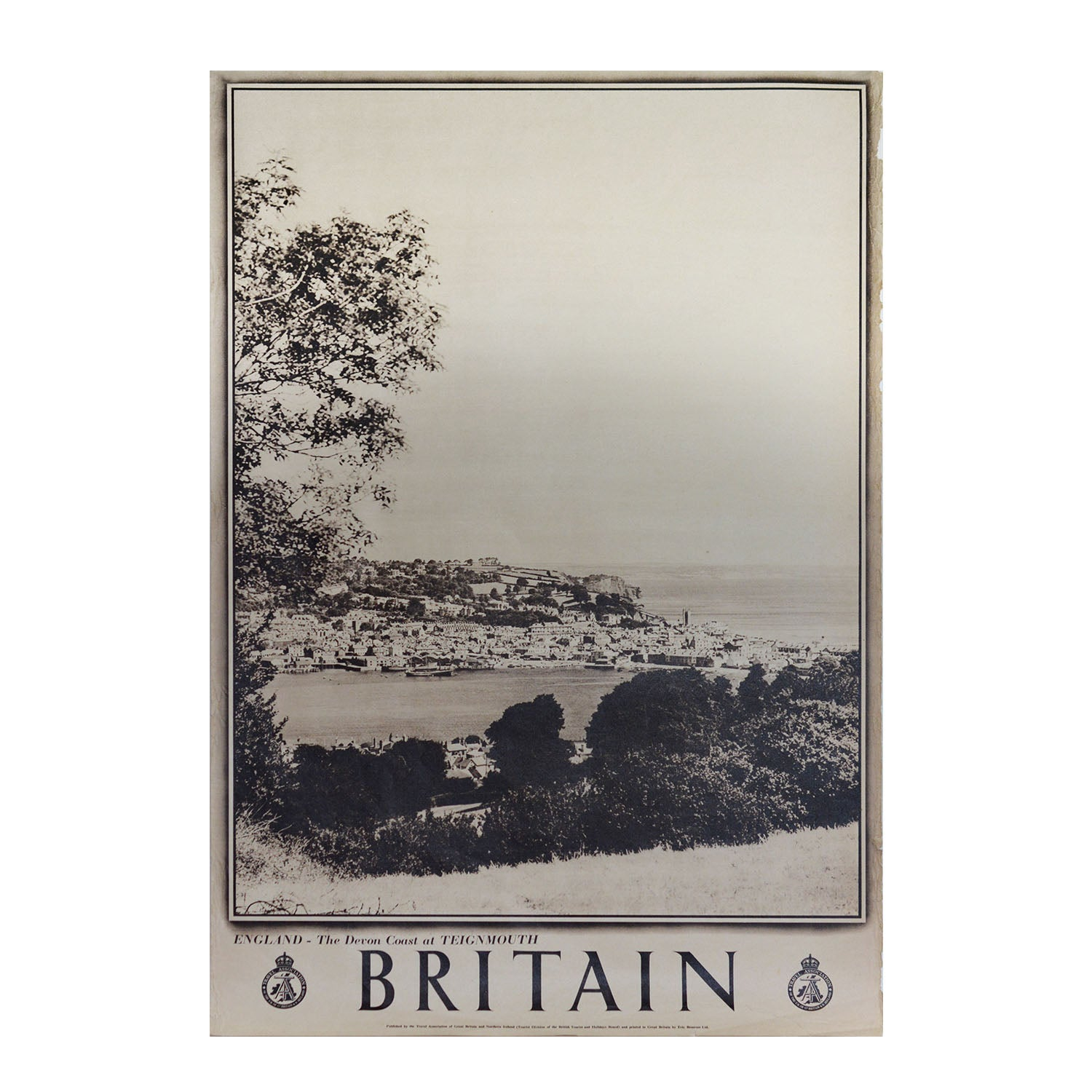 A lovely photographic poster showing Teignmouth, Devon, published by the British Travel Association