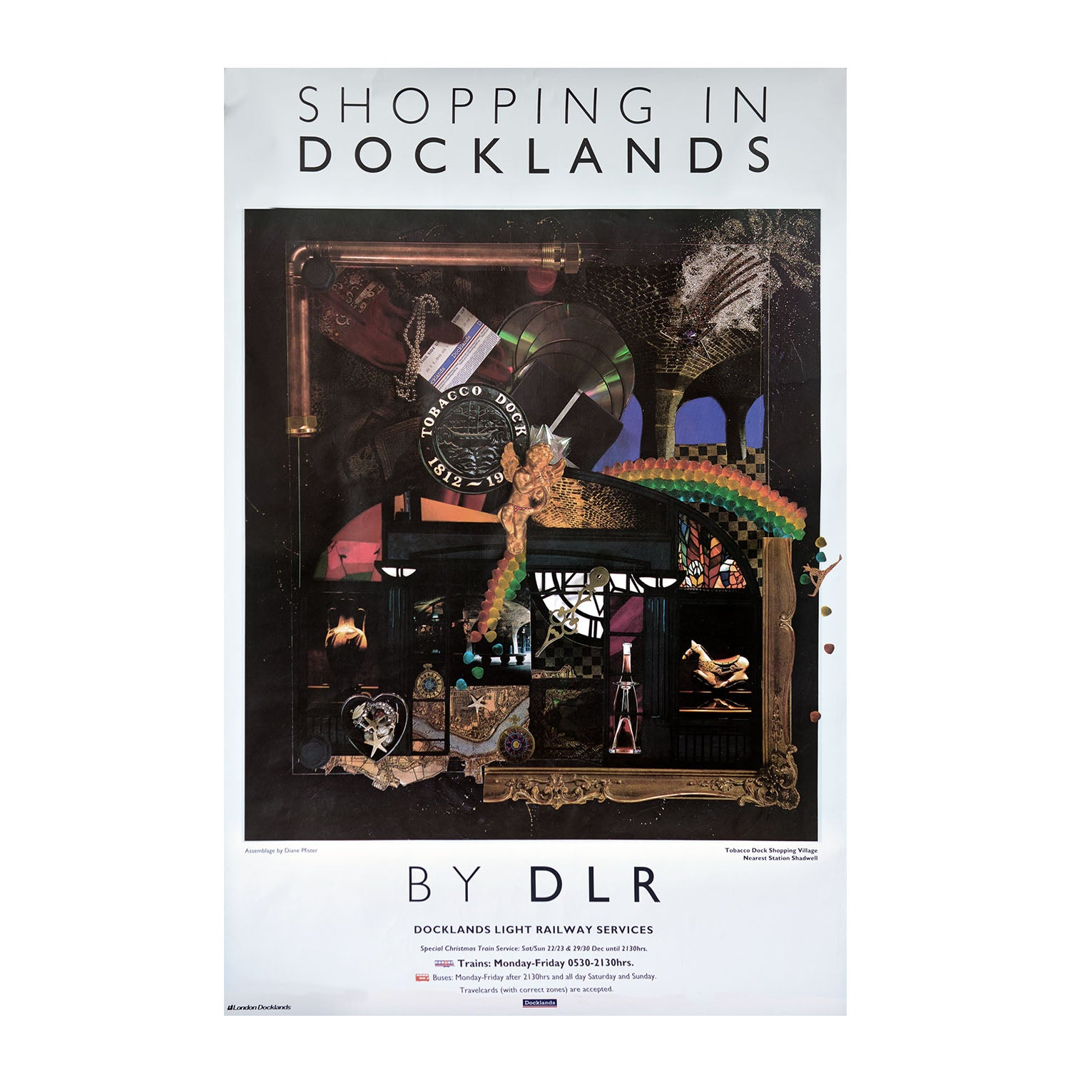 Original Docklands Light Railway poster by Diane Pfister