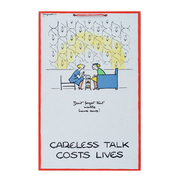Full set of original Fougasse Careless Talk posters, 1940