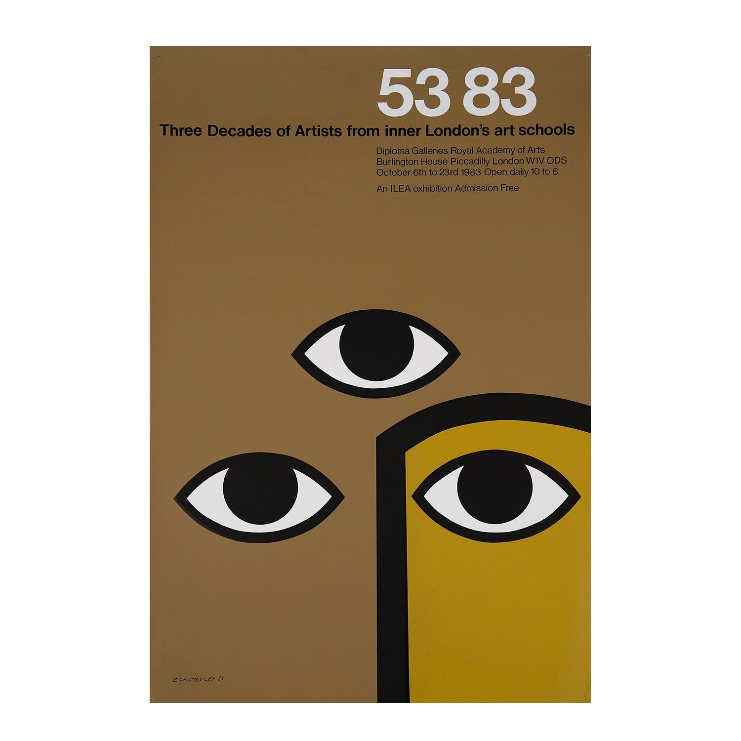 53 83. Three decades of artists from inner London's art schools