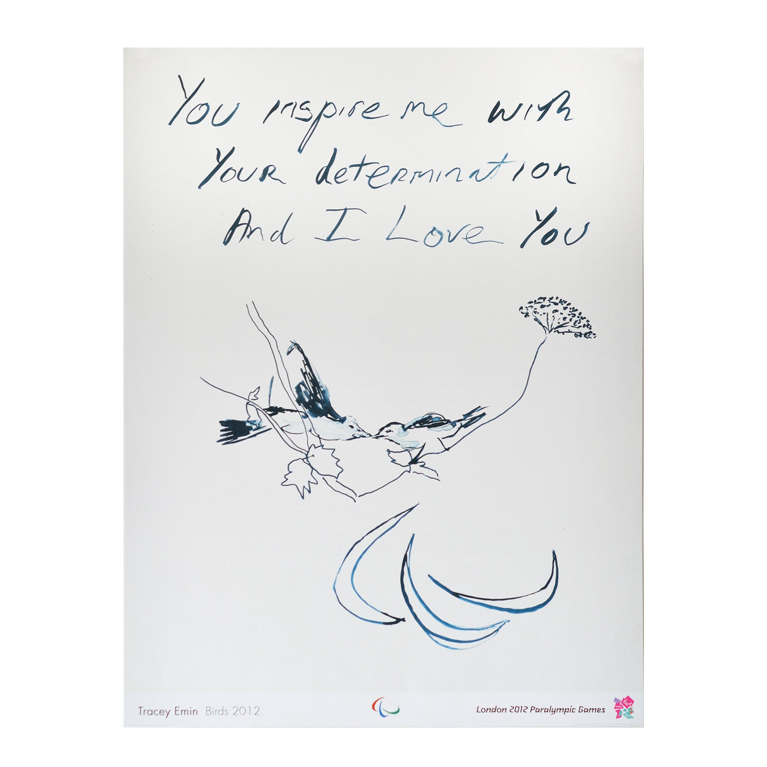 Official 2012 Paralympic Games poster Tracey Emin