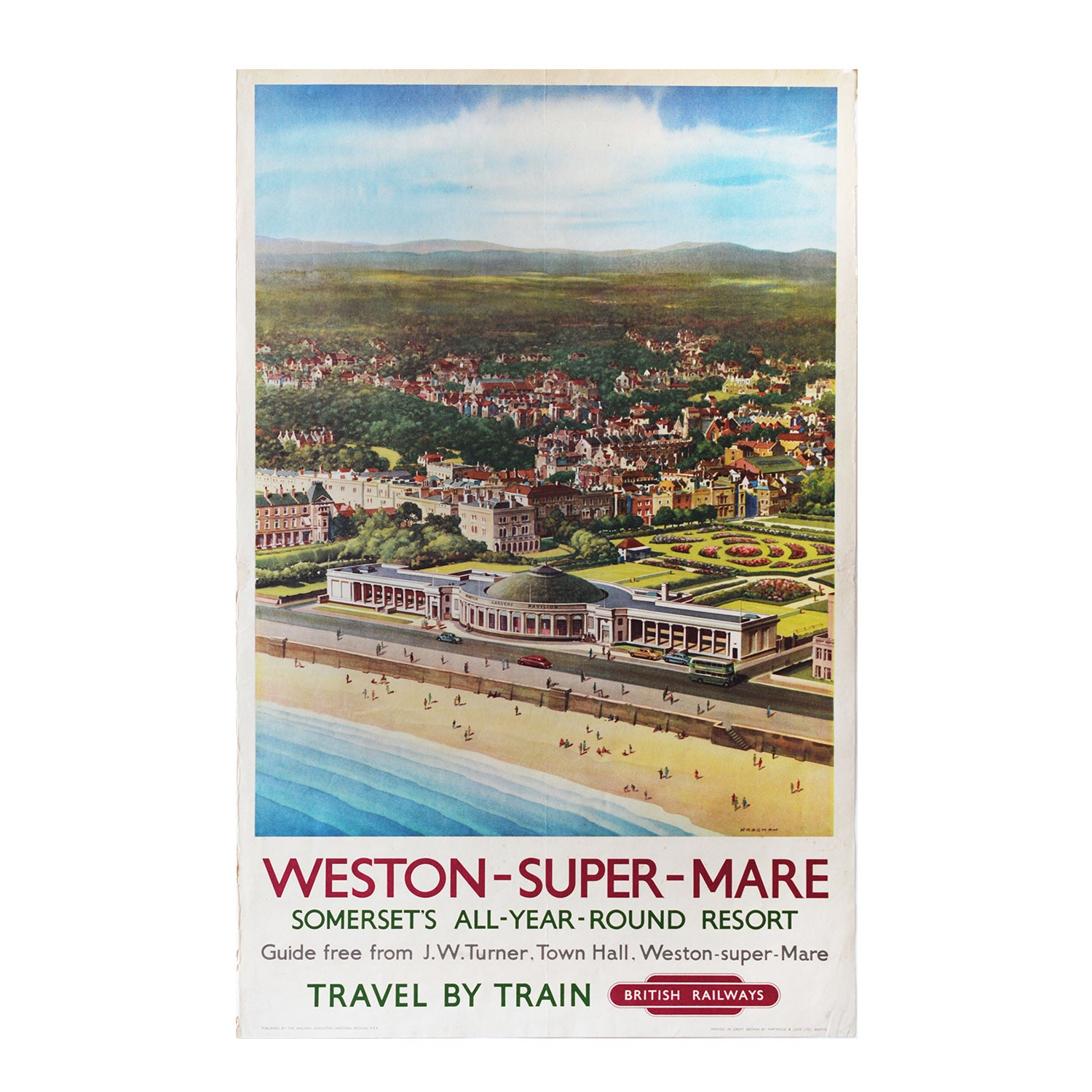 Original BR Weston Super Mare poster