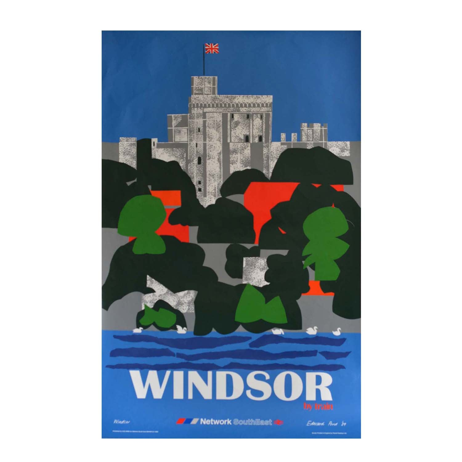 Original British Rail poster Edward Pond Windsor