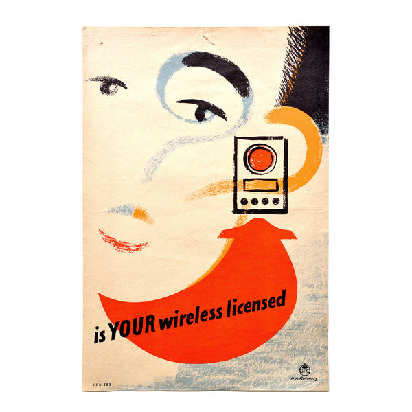 Original GPO poster Is your wireless set licensed ?