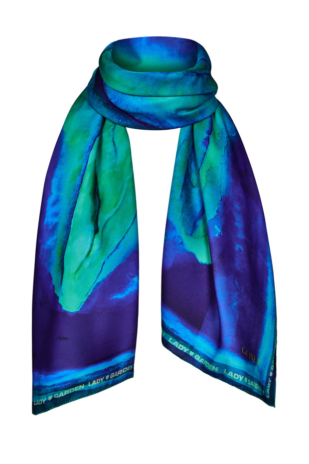 The Lady Garden Scarf - Peacock Blue