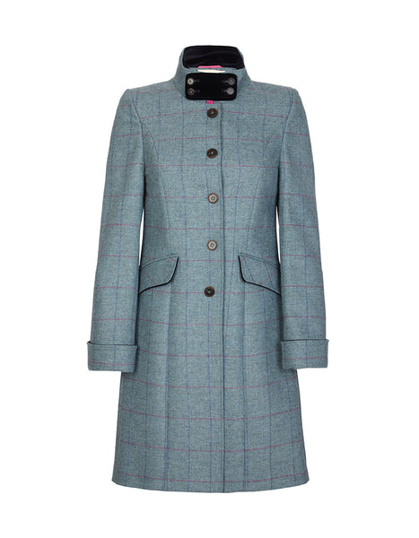 Burghley Tweed Coat - Moss Green