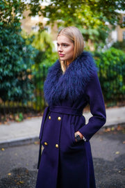 Marianne Cashmere Coat - Navy