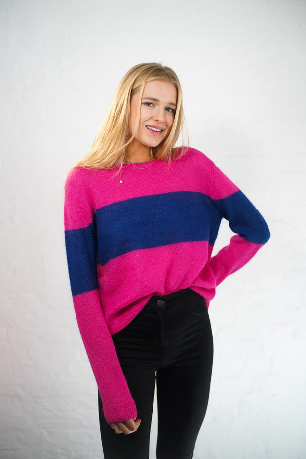 Milly - Pink Mohair Jumper