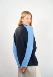 Georgia - Alpaca Jumper - Navy Blue and Blue