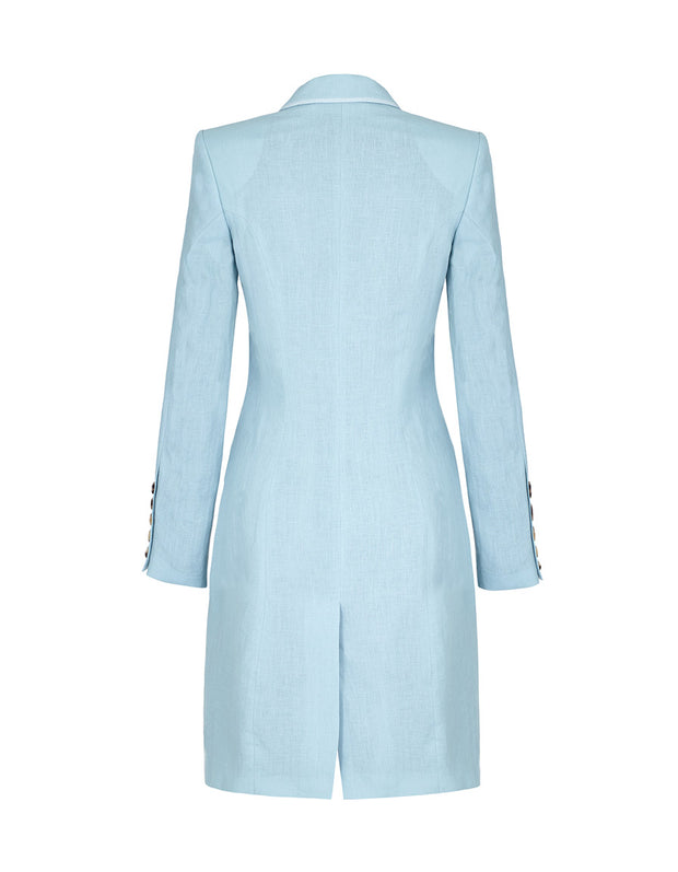 powder blue linen jacket, summer coat jacket, ideal for occasions and weddings. wedding jacket, womens linen suit
