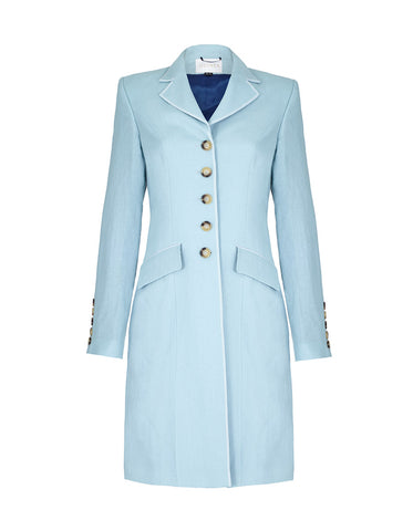 Ebury Linen Coat - Duck Egg Blue