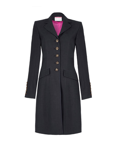 Ebury Linen Coat - Navy
