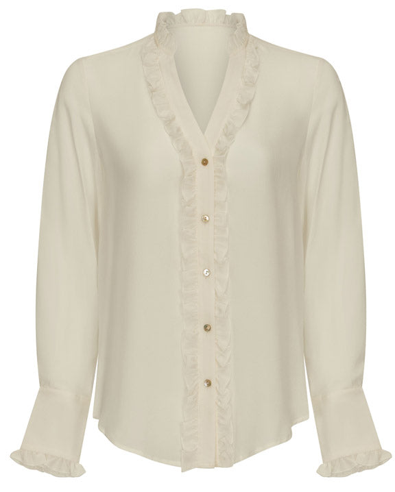 Emily Silk Top - White