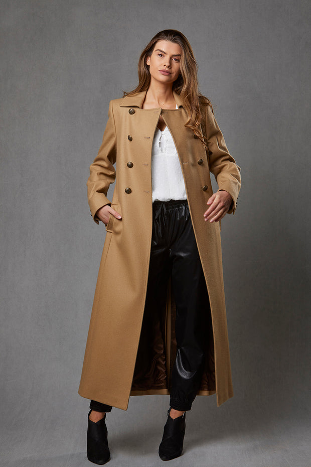 Trench Coat – Camel Melton Wool