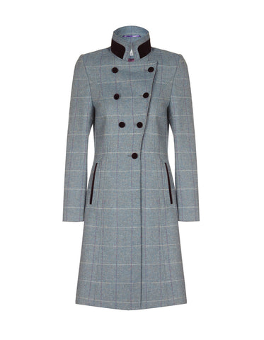 Knightsbridge Tweed Coat - Country Blue Check