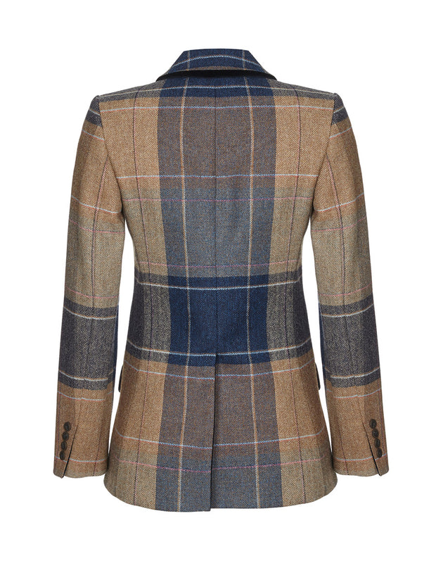 fitted tweed jacket, ladies jacket, wool blazer