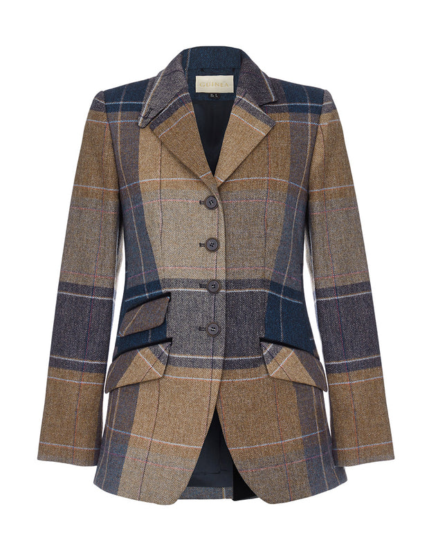 Country coat, tweed blazer, equestrian clothing, check jacket