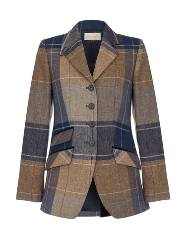 Mayfair Tweed Blazer - Fawn Blanket Check