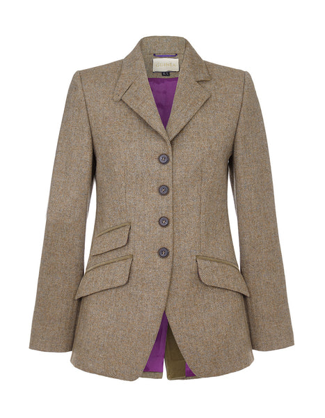 Mayfair Tweed Jacket - Fawn Herringbone