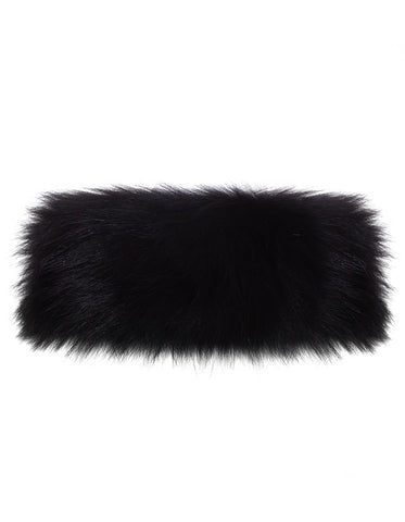Fur Neck Warmer - Black