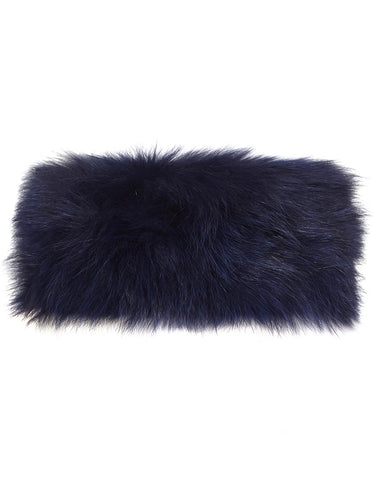 Fur Neck Warmer - Navy