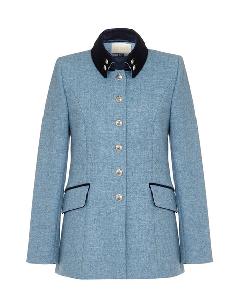 Windsor Jacket - Sky Blue Herringbone