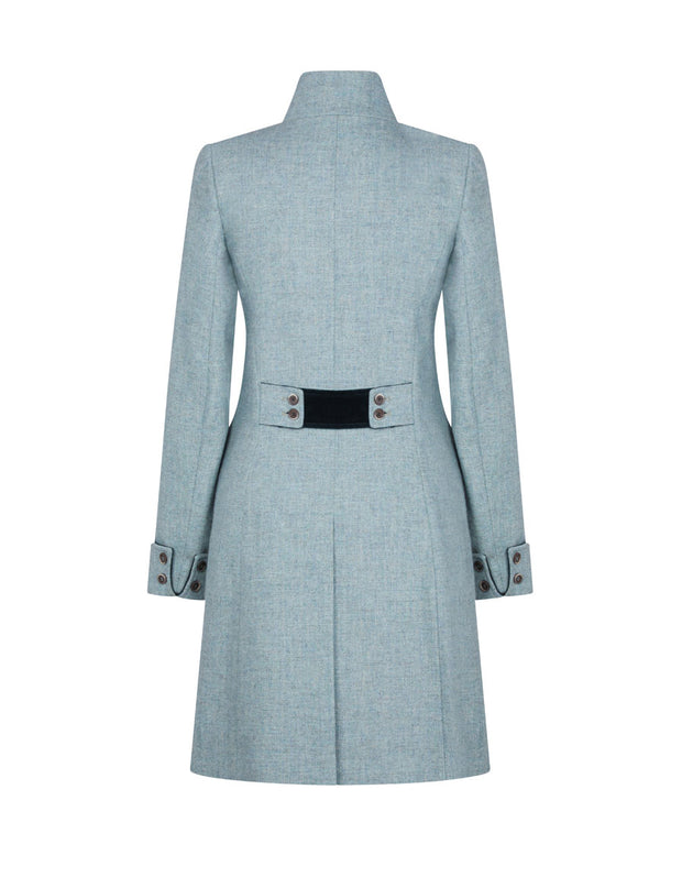 Burghley Wool Coat - Green Herringbone - 40% OFF