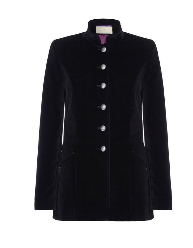 black velvet blazer, velvet coat, velvet evening coat, nehru jacket