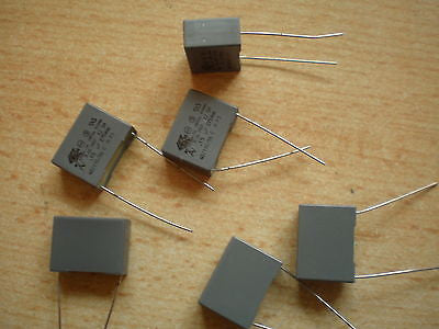 Polyester capacitor 150NF 250V X2 pitch 15mm 6pcs £3.00