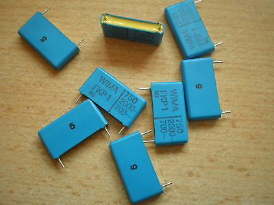polyester capacitor 750pf 2000v FKP1 series 25pcs £3.00