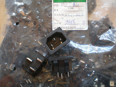 IEC 220v inlet connector BULK BUY 100pcs