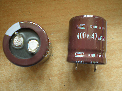 Electrolytic studded capacitor 47uf 400V  4pcs KMH400VSSN47M Nippon-Chemi-con