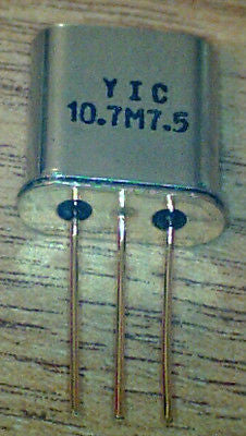 10M07A  10.7 MHz  7.5Khz  Bandwidth  Filter  New  made by YIC    H228