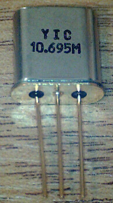 10M695A  10.695 MHz  7.5Khz  Bandwidth  Filter  New  made by YIC     Item 1493