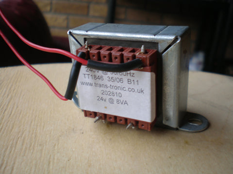 240 volts AC transformer output  24 volts  8va