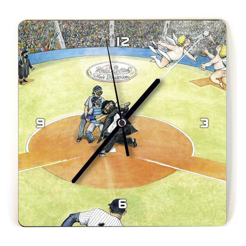 Martin Holt Baseball Wooden Wall Clock
