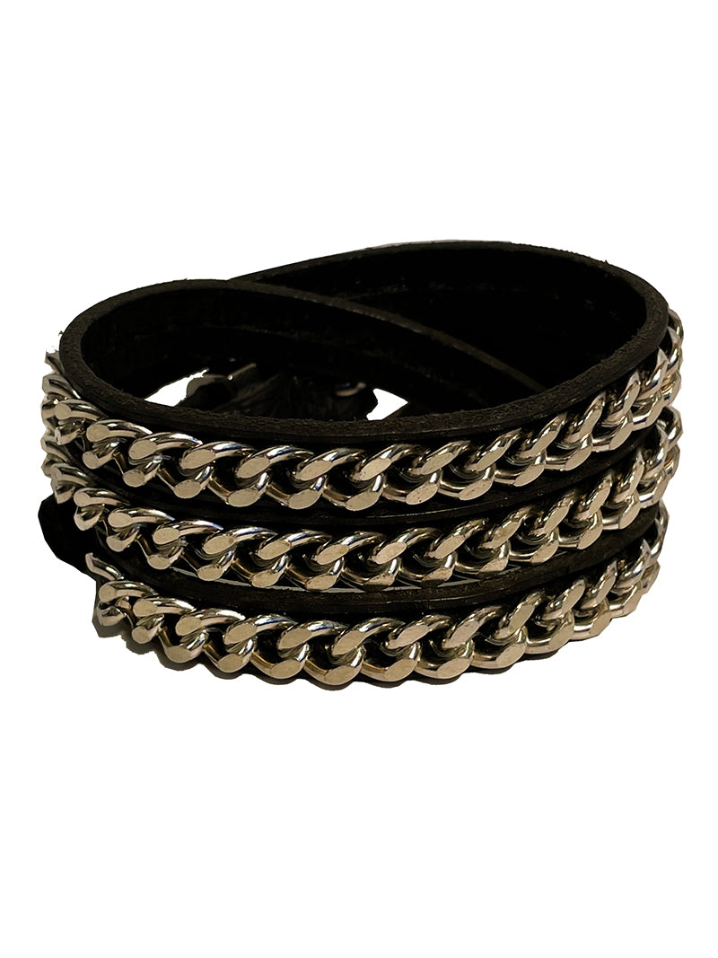 Chrome Wrap Bracelet