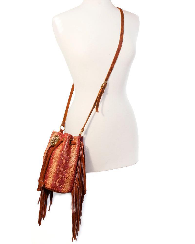 Coachella Fringe Bucket Bag