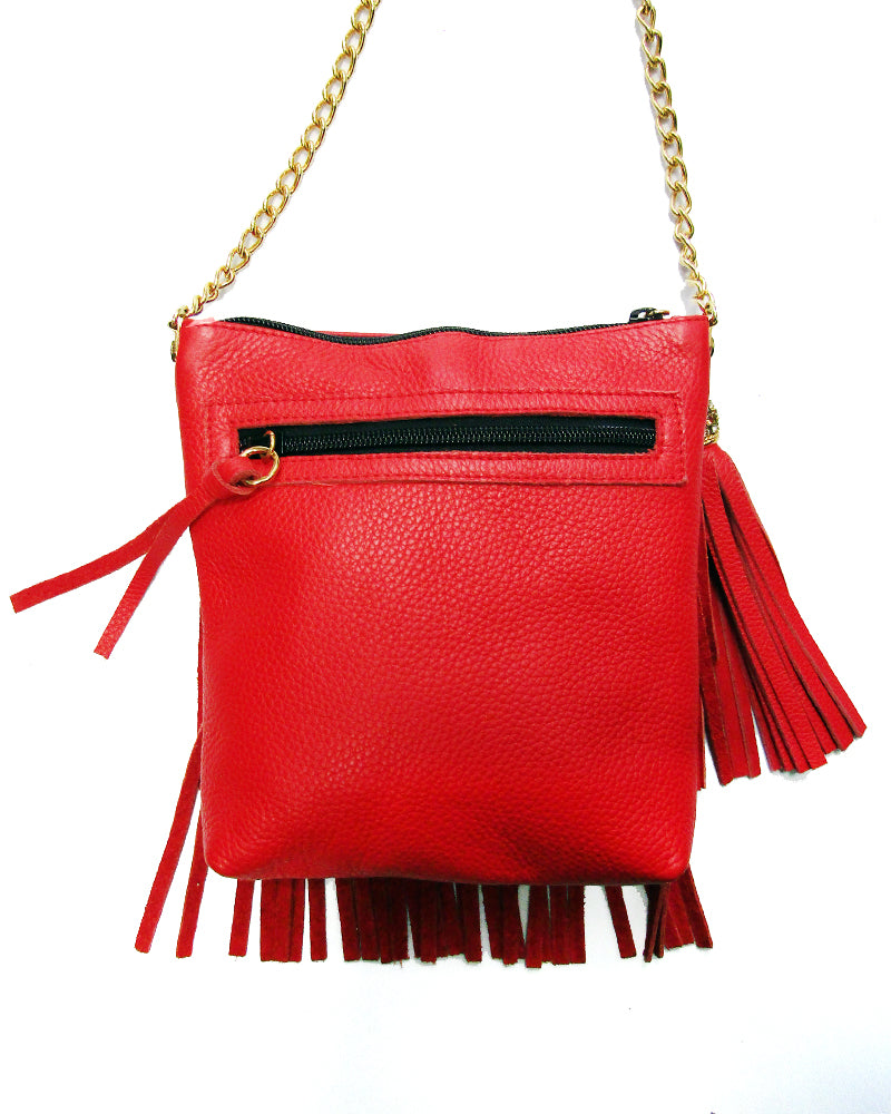 Red Flapper Crossbody Bag