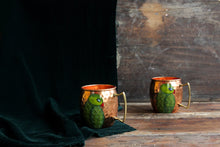 Load image into Gallery viewer, Handpainted parrot copper mug