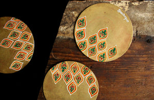 Hand painted jali coasters (set of 4)