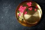 Hand Painted Bougainvillea Kansa Small Plate