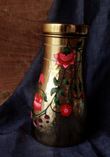 Load image into Gallery viewer, Handpainted Crimson copper water carafe