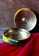 Load image into Gallery viewer, Handpainted Amaltas brass bowl
