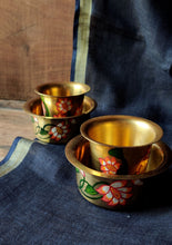 Load image into Gallery viewer, Handpainted Lotus filter coffee set