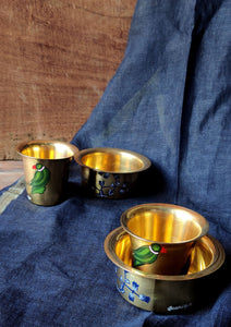 Handpainted Parrot filter coffee set