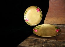 Load image into Gallery viewer, Handpainted bougainvillea brass tapas plate