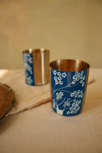 Blue Pottery: Indigo Forest Glass (set of 2)